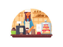 Baker seller woman Royalty Free Stock Photography