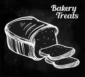 Baker shop bread icon in vintage style. Stock Photography