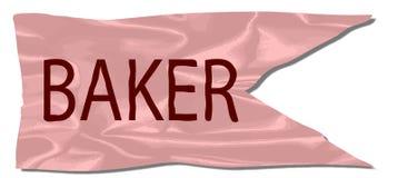 Baker Silk Flag Photos libres de droits