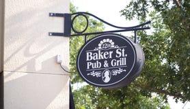 Baker St Pub en de Straat van de Grillstraat, Fort Worth Texas royalty-vrije stock foto