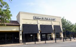 Baker St Pub en Grill, Fort Worth Texas stock foto