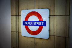Baker straatmetro teken stock afbeeldingen
