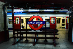 Baker Street Bench. London November 2014 Stock Photos