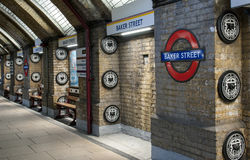 Baker Street. London Underground - the most interesting underground station Stock Photos