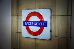 Baker street metro sign stock images