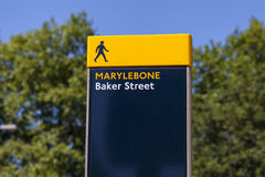 Baker Street Pedestrian Sign in London Stock Photos