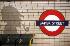 Baker Street and Sherlock Holmes Royalty Free Stock Image