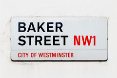 Baker street sign Royalty Free Stock Photo