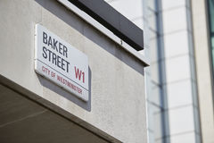 Baker Street sign Royalty Free Stock Images