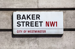 Baker Street Sign in Londen Stock Foto's