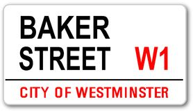 Baker Street Sign. The street name sign from Baker Street West One stock illustration