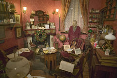The Baker Street Sitting Room re-creation on upper floor of Sherlock Holmes Pub, London, England, Stock Images