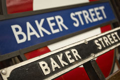 BAKER STREET tube station in the London Royalty Free Stock Image