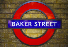 Baker Street Underground Station in Londen Royalty-vrije Stock Foto