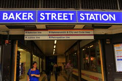 Baker Street Underground Station Londen Egland royalty-vrije stock fotografie