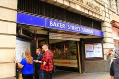 Baker Street Underground Station London Egland Stock Image