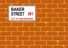 Baker Street Wall Photographie stock