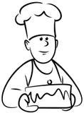 Baker (Vector) royalty free illustration
