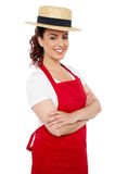 Baker woman posing casually with arms crossed Stock Photo