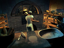 The baker at work Royalty Free Stock Images