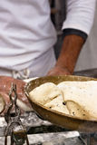 Baker working detail. Stock Photos