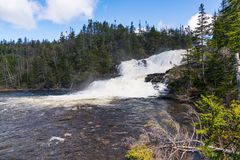 Bakers Brook Waterfall, Newfoundland. Bakers Brook Waterfall in Gros Morne National Park in Newfoundland, Canada royalty free stock photography