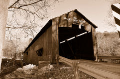 Bakers camp covered bridge Royalty Free Stock Photos