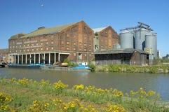 Bakers quay. & disused Pillar warehouse stock photos