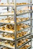 Bakers Racks Full of Bread Royalty Free Stock Images