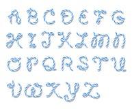 Bakers twine alphabet Royalty Free Stock Photo