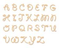 Bakers twine alphabet Royalty Free Stock Photos