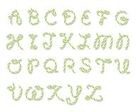Bakers twine alphabet Royalty Free Stock Images