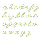 Bakers twine alphabet Stock Image