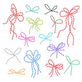 Bakers twine bows set Royalty Free Stock Images