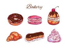 bakersfield Иллюстрация вектора нарисованная рукой Изолированные предметы иллюстрация штока