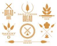 bakersfield Хлеб Пшеница Изолированные ярлыки на белой предпосылке бесплатная иллюстрация