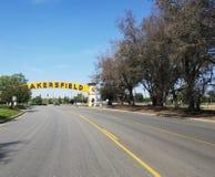 Bakersfield-Straßenschild lizenzfreie stockfotografie