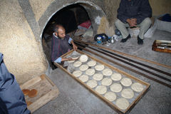 Bakery. This a Bakery in Marrakech (Marocco). Namely in the Medina, the huge street maze full of shops Stock Photography