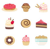 BAKERY. A cute bakery set illustration Stock Photos