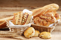 Bakery. Shot of the group of bakery Royalty Free Stock Image