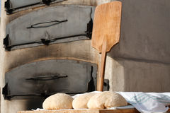 Bakery. Outdoor bakery in a traditional fair of the Basque Country (Spain Royalty Free Stock Image