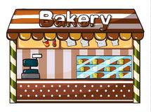 A bakery. Illustration of a bakery on a white background Stock Images