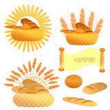 Bakery. Vector illustration of bakery products isolated Royalty Free Stock Image
