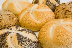 Bakery. Crusty wholegrain bakery on white background Royalty Free Stock Images