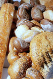 Bakery. Peaces of fresh bred  close-up Stock Image