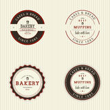 Bakery. Abstract bakery objects on a white background stock illustration