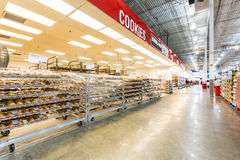 Bakery aisle in a Costco store Stock Images