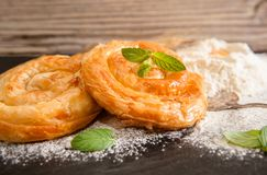 Bakery background – cheese pie Royalty Free Stock Images