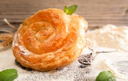 Bakery background – cheese pie Royalty Free Stock Photo
