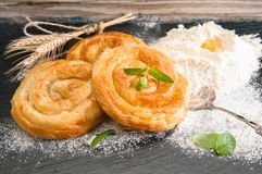 Bakery background – cheese pie Stock Photo
